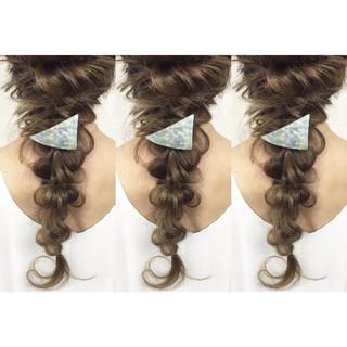 ブライダル ショート 三つ編み ロング ヘアスタイルや髪型の写真・画像