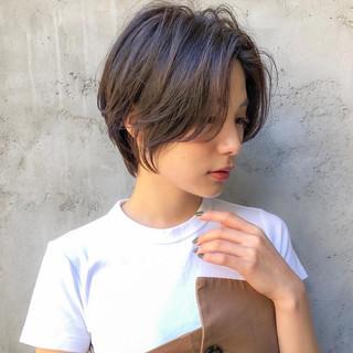 ベリーショート ショートボブ インナーカラー ショート ヘアスタイルや髪型の写真・画像