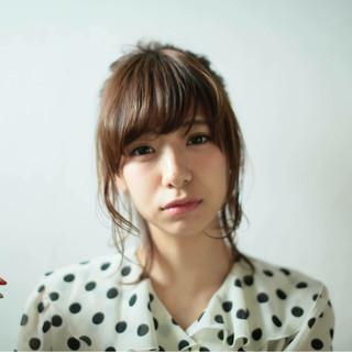 大人かわいい 外国人風 ミディアム ヘアアレンジ ヘアスタイルや髪型の写真・画像