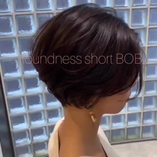 パーマ ショート ヘアアレンジ デート ヘアスタイルや髪型の写真・画像