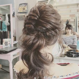 夏 結婚式 デート 簡単ヘアアレンジ ヘアスタイルや髪型の写真・画像