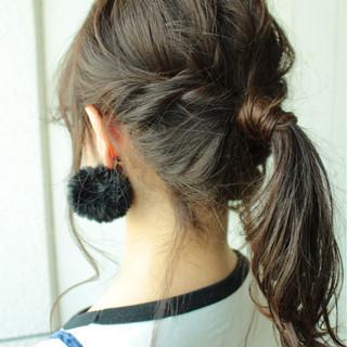 透明感 簡単ヘアアレンジ デート 秋 ヘアスタイルや髪型の写真・画像