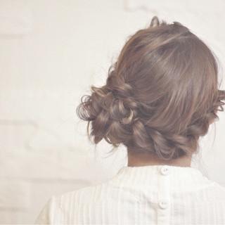 ロング ショート 簡単ヘアアレンジ ヘアアレンジ ヘアスタイルや髪型の写真・画像