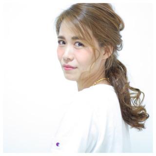 ヘアアレンジ 簡単ヘアアレンジ 大人女子 セミロング ヘアスタイルや髪型の写真・画像
