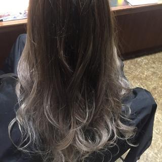 外国人風 ロング グラデーションカラー ナチュラル ヘアスタイルや髪型の写真・画像