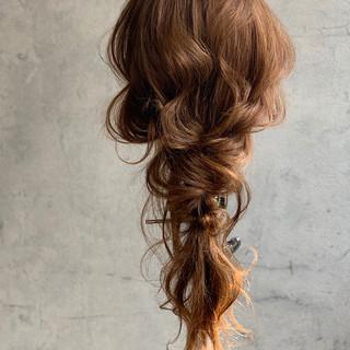 結婚式ヘアアレンジ 編みおろしヘア 編みおろし ロング ヘアスタイルや髪型の写真・画像