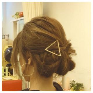 フェミニン ショート ゆるふわ 簡単ヘアアレンジ ヘアスタイルや髪型の写真・画像