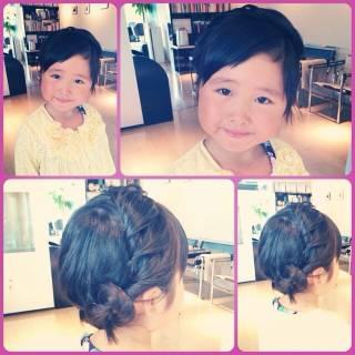 ショート 簡単ヘアアレンジ ヘアアレンジ ガーリー ヘアスタイルや髪型の写真・画像