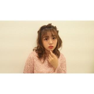 涼しげ 女子会 色気 セミロング ヘアスタイルや髪型の写真・画像