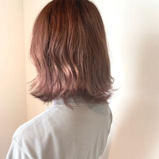 フェミニン オルチャン ボブ 透明感カラー ヘアスタイルや髪型の写真・画像