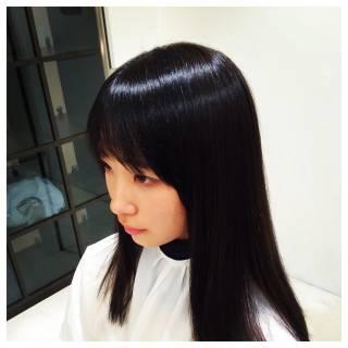 シースルーバング 外国人風 ナチュラル グラデーションカラー ヘアスタイルや髪型の写真・画像