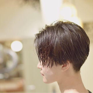 大人女子 モード ジェンダーレス 刈り上げ ヘアスタイルや髪型の写真・画像