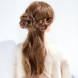 エレガント 大人女子 簡単ヘアアレンジ ロング ヘアスタイルや髪型の写真・画像