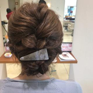 ナチュラル 編み込み 結婚式 簡単ヘアアレンジ ヘアスタイルや髪型の写真・画像