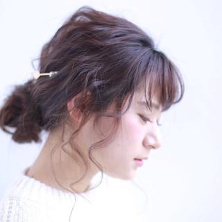 ショート 大人かわいい 簡単ヘアアレンジ ロング ヘアスタイルや髪型の写真・画像