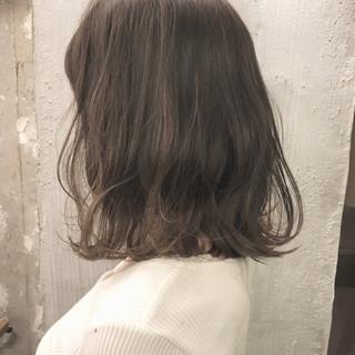 オルチャン 外国人風カラー ナチュラル グレージュ ヘアスタイルや髪型の写真・画像
