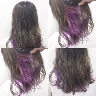 グラデーションカラー フェミニン ゆるふわ ガーリー ヘアスタイルや髪型の写真・画像