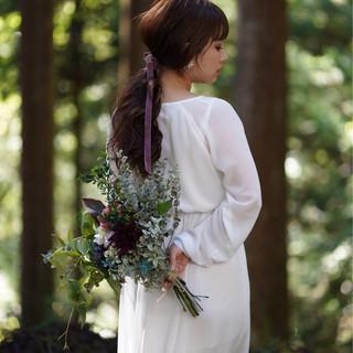 ロング ブライダル フェミニン ヘアアレンジ ヘアスタイルや髪型の写真・画像