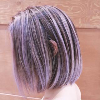 ピンク ストリート ハイライト バレイヤージュ ヘアスタイルや髪型の写真・画像
