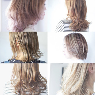 ベージュ アッシュベージュ ナチュラル ピンクベージュ ヘアスタイルや髪型の写真・画像