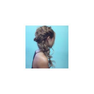 ゆるふわ 簡単ヘアアレンジ ハーフアップ ショート ヘアスタイルや髪型の写真・画像