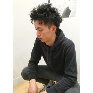 パーマ ボーイッシュ 坊主 ショート ヘアスタイルや髪型の写真・画像