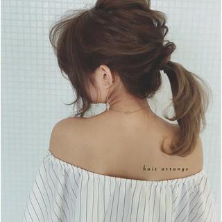 ヘアアレンジ ロング ショート ポニーテール ヘアスタイルや髪型の写真・画像