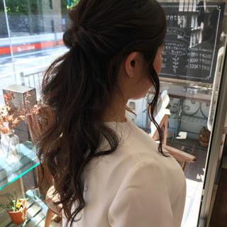 フェミニン ロング 簡単 パーティ ヘアスタイルや髪型の写真・画像
