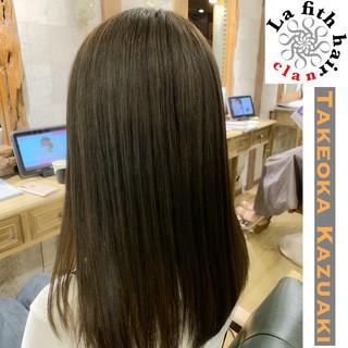 透明感 ナチュラル セミロング アディクシーカラー ヘアスタイルや髪型の写真・画像