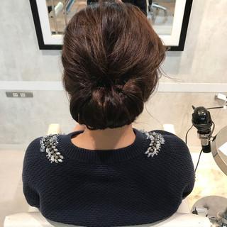 ヘアアレンジ セミロング 簡単ヘアアレンジ こなれ感 ヘアスタイルや髪型の写真・画像