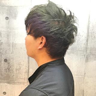 外国人風カラー アッシュグレージュ ショート ストリート ヘアスタイルや髪型の写真・画像