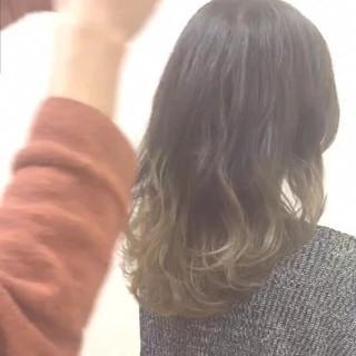 ニュアンス 大人女子 こなれ感 セミロング ヘアスタイルや髪型の写真・画像