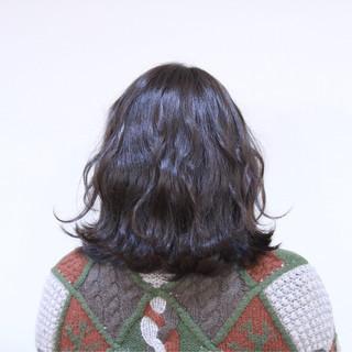 アッシュ ボブ 透明感 ナチュラル ヘアスタイルや髪型の写真・画像