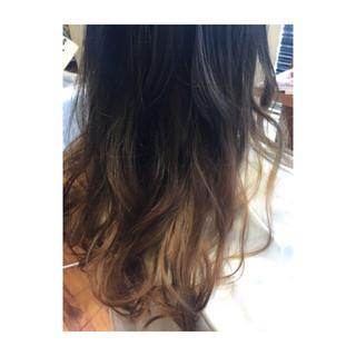 黒髪 ロング モード グレージュ ヘアスタイルや髪型の写真・画像