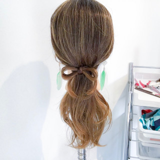ヘアアレンジ ポニーテール ナチュラル ロング ヘアスタイルや髪型の写真・画像