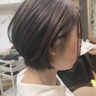 ショートヘア 丸みショート 似合わせカット ナチュラル ヘアスタイルや髪型の写真・画像