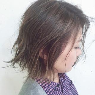 ヘアアレンジ ストリート 夏 ボブ ヘアスタイルや髪型の写真・画像