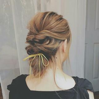 透明感 ミディアム 秋 簡単ヘアアレンジ ヘアスタイルや髪型の写真・画像