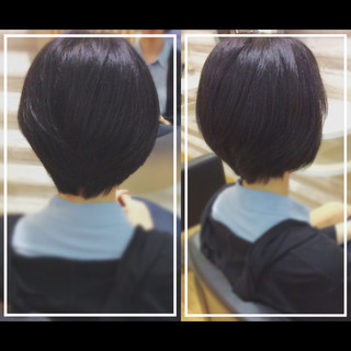 ベリーショート 黒髪 ショート オフィス ヘアスタイルや髪型の写真・画像