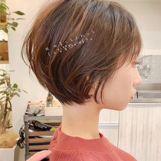ミニボブ ナチュラル ショートヘア ベリーショート ヘアスタイルや髪型の写真・画像