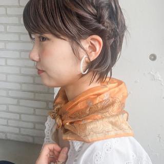 ショート ナチュラル 簡単ヘアアレンジ ショートアレンジ ヘアスタイルや髪型の写真・画像