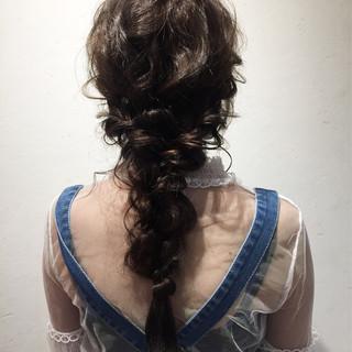 デート ヘアアレンジ 涼しげ 結婚式 ヘアスタイルや髪型の写真・画像