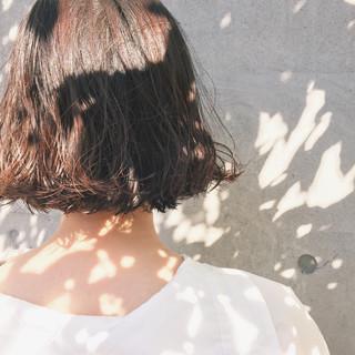 ウェーブ ボブ パーマ アンニュイ ヘアスタイルや髪型の写真・画像