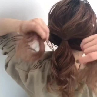 夏 セミロング 簡単ヘアアレンジ 涼しげ ヘアスタイルや髪型の写真・画像
