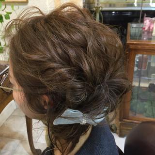 ナチュラル フェミニン ショート ヘアアレンジ ヘアスタイルや髪型の写真・画像