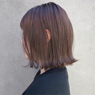 ラベンダーアッシュ ブリーチ 切りっぱなし ラベンダーグレージュ ヘアスタイルや髪型の写真・画像