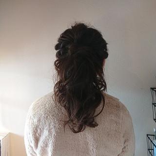 ポニーテール ヘアアレンジ 上品 エレガント ヘアスタイルや髪型の写真・画像