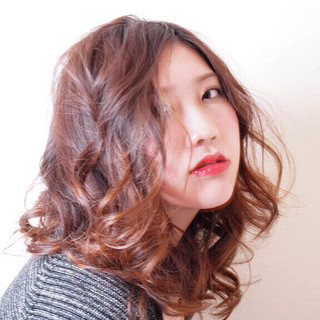 モード 大人女子 抜け感 ミディアム ヘアスタイルや髪型の写真・画像