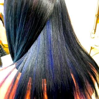 ストレート ブルージュ 暗髪 黒髪 ヘアスタイルや髪型の写真・画像