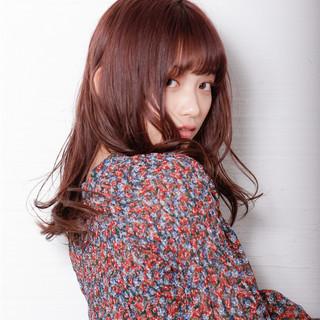 ガーリー バイオレットカラー ピンクバイオレット ラベンダーピンク ヘアスタイルや髪型の写真・画像
